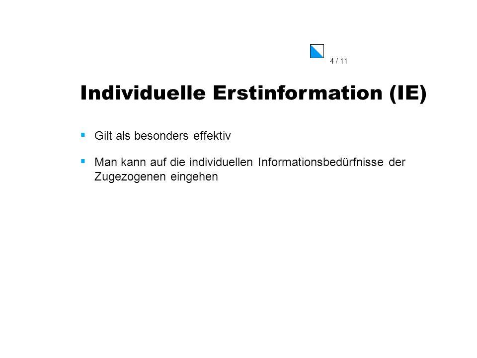 Individuelle Erstinformation (IE)