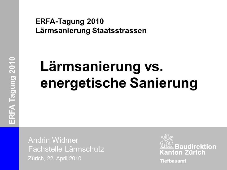 Lärmsanierung vs. energetische Sanierung