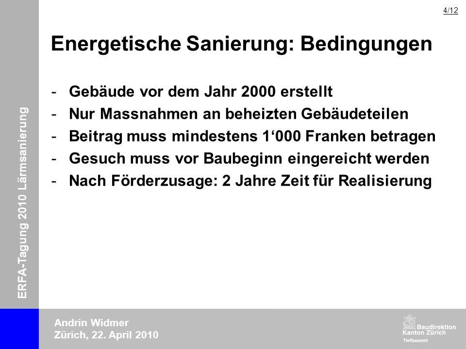 Energetische Sanierung: Bedingungen