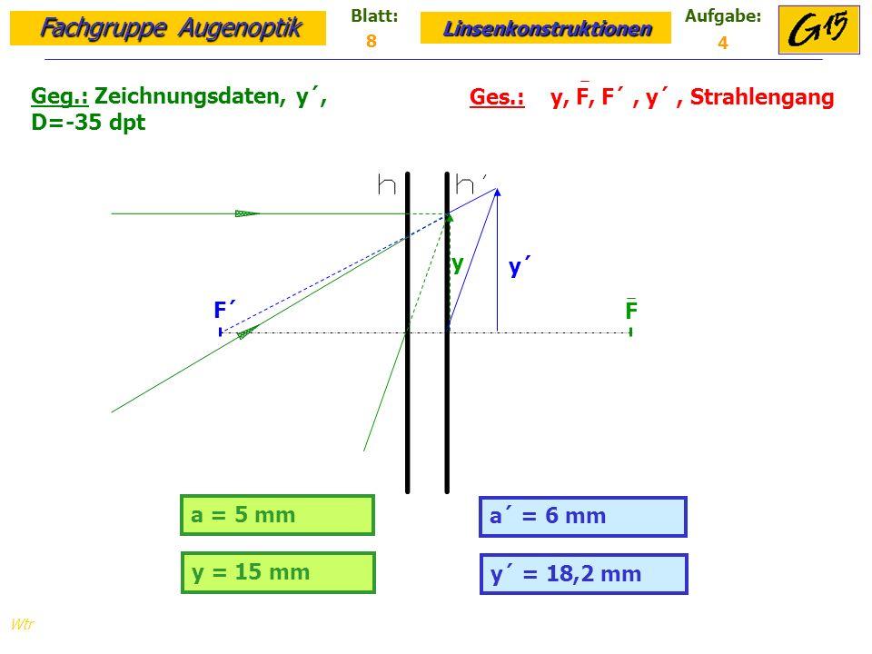 Geg.: Zeichnungsdaten, y´, D=-35 dpt