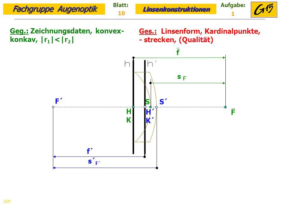 Geg.: Zeichnungsdaten, konvex- konkav, |r1|<|r2|