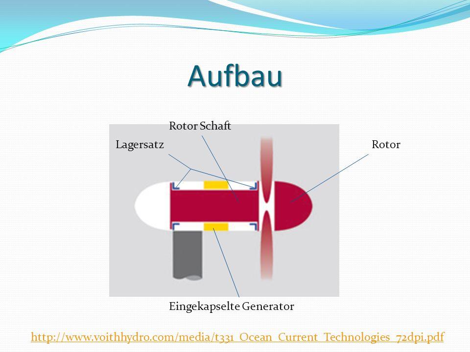 Aufbau Rotor Schaft Lagersatz Rotor Eingekapselte Generator