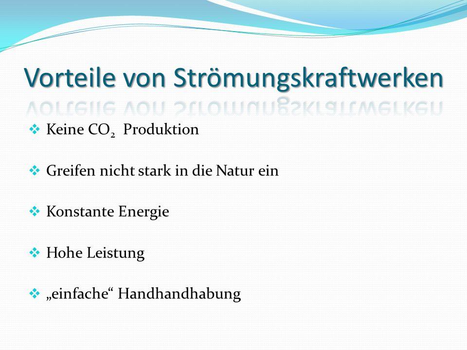 Vorteile von Strömungskraftwerken
