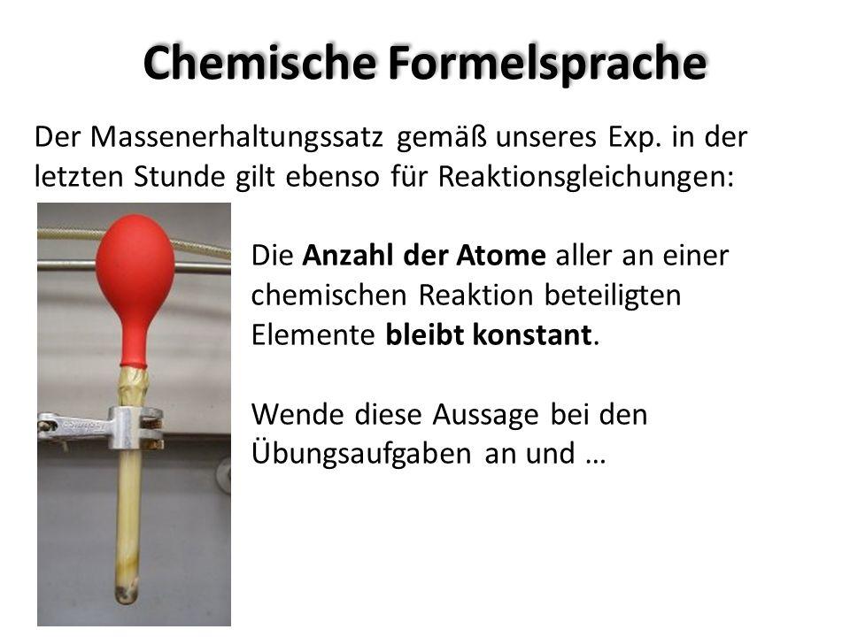 Chemische Formelsprache