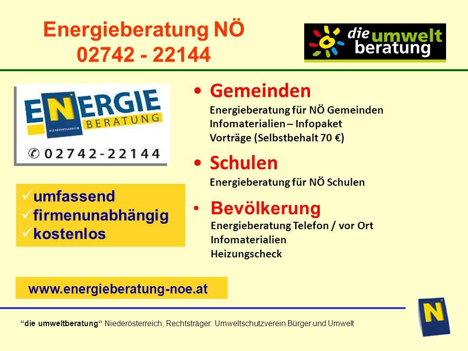 Schulen Energieberatung für NÖ Schulen