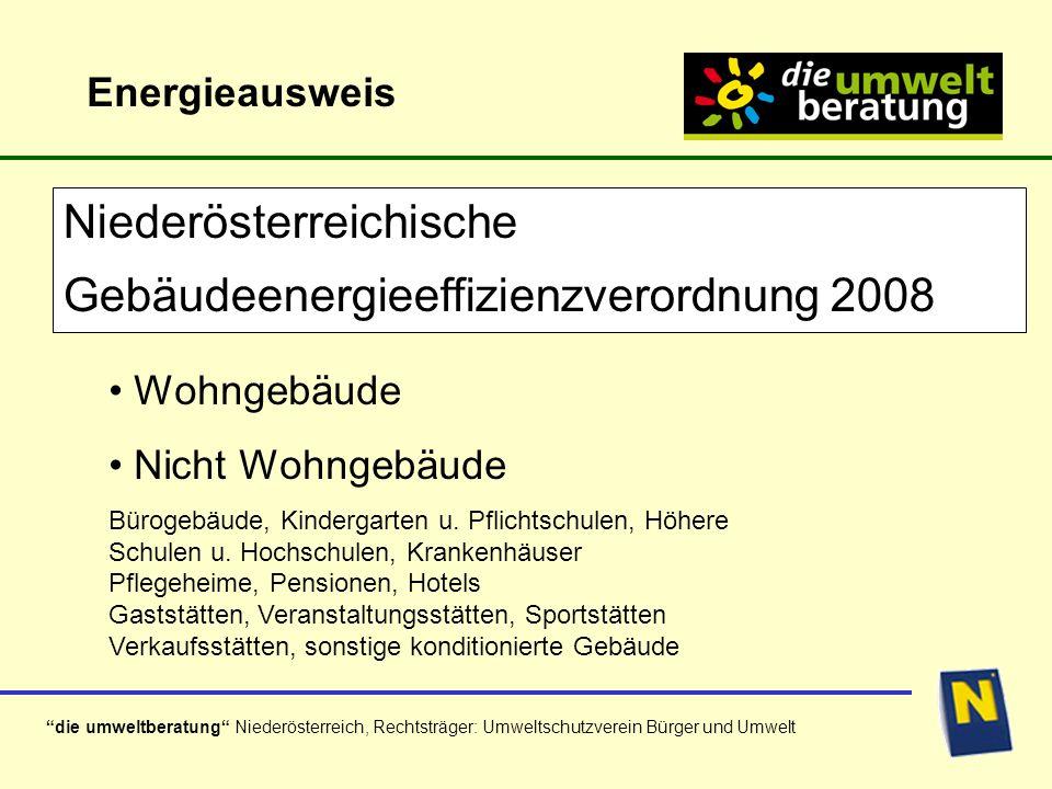 Niederösterreichische Gebäudeenergieeffizienzverordnung 2008