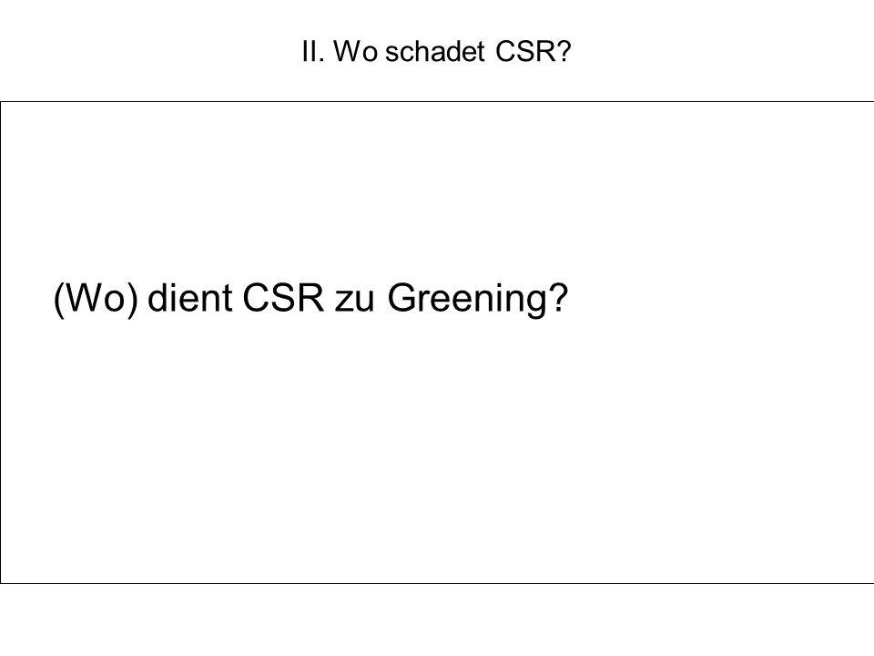 (Wo) dient CSR zu Greening