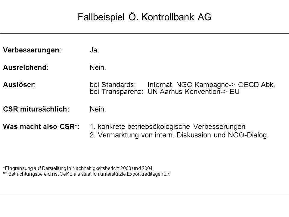 Fallbeispiel Ö. Kontrollbank AG