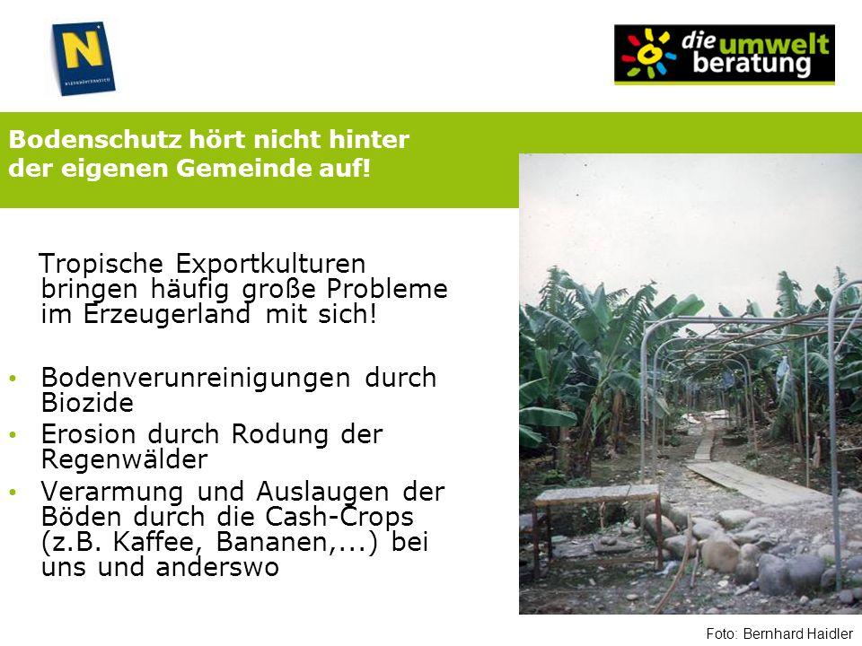 Bodenschutz hört nicht hinter der eigenen Gemeinde auf!