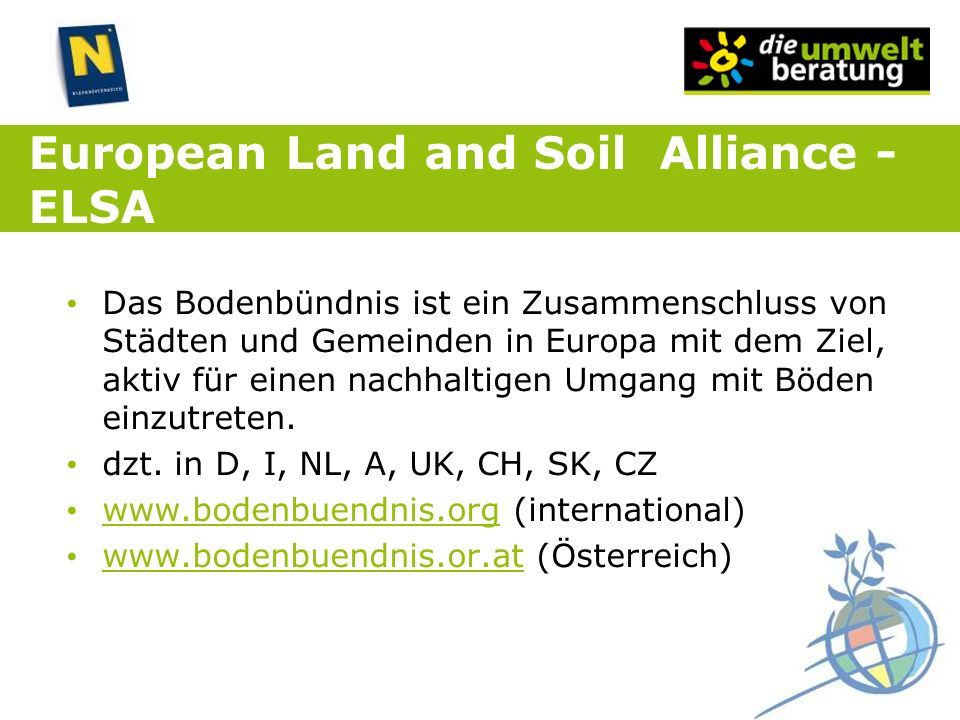 European Land and Soil Alliance - ELSA