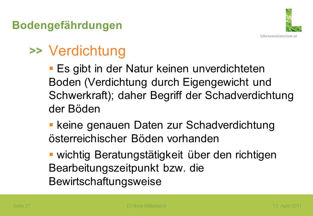Verdichtung Bodengefährdungen >>