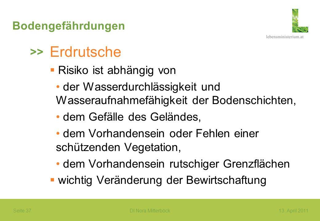 Erdrutsche Bodengefährdungen >> Risiko ist abhängig von