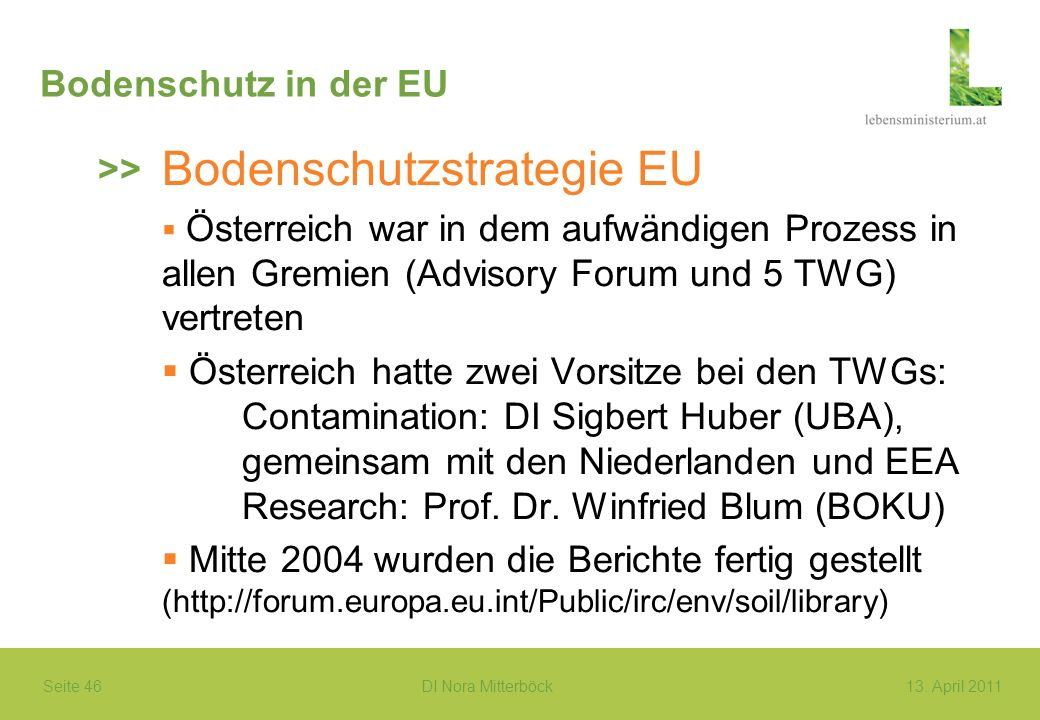 Bodenschutzstrategie EU