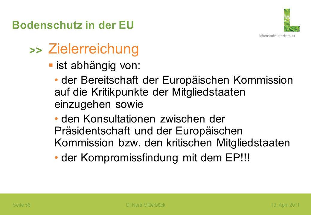 Zielerreichung Bodenschutz in der EU >> ist abhängig von: