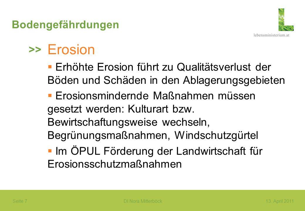 Erosion Bodengefährdungen >>