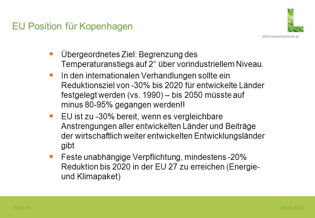 EU Position für Kopenhagen