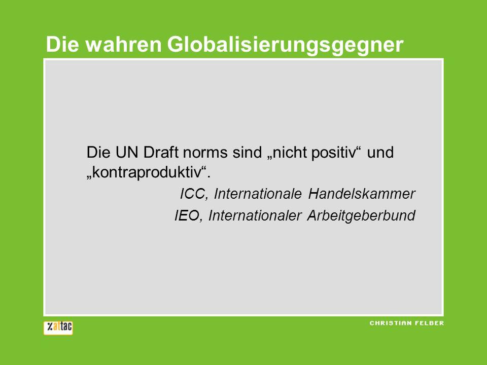 Die wahren Globalisierungsgegner