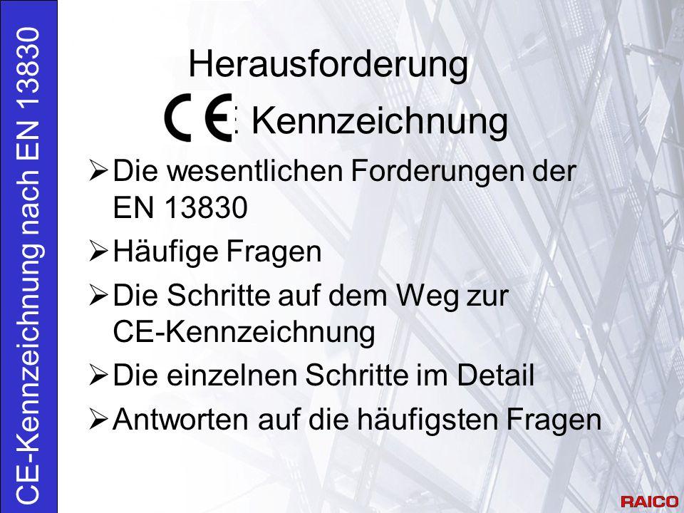 Herausforderung CE Kennzeichnung