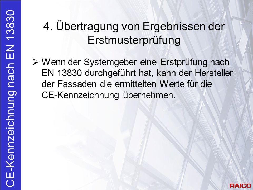 4. Übertragung von Ergebnissen der Erstmusterprüfung