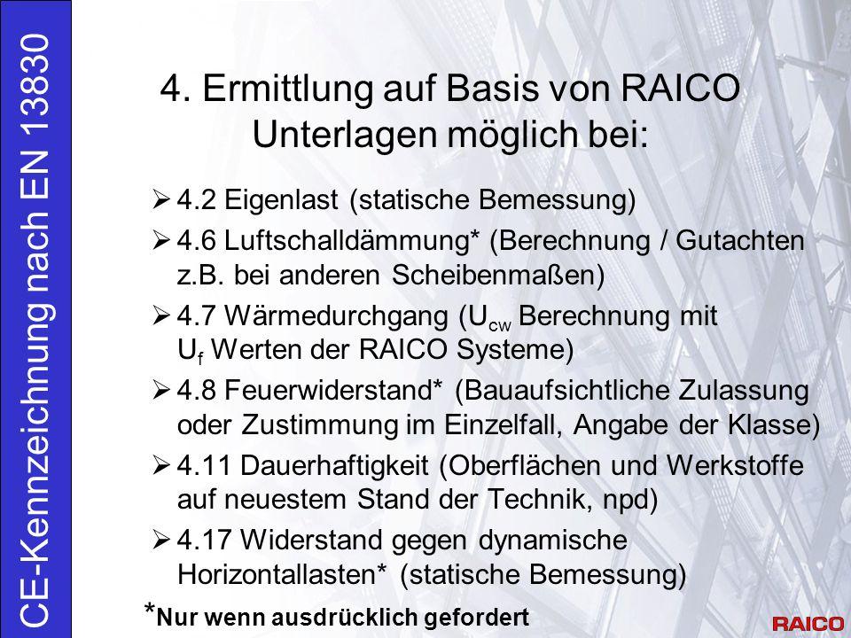 4. Ermittlung auf Basis von RAICO Unterlagen möglich bei: