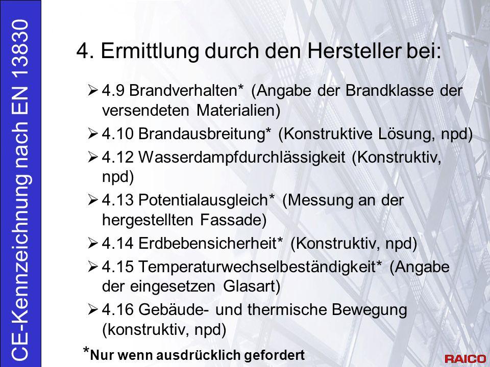 4. Ermittlung durch den Hersteller bei: