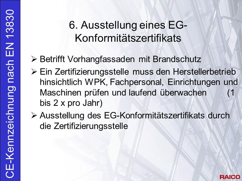 6. Ausstellung eines EG-Konformitätszertifikats