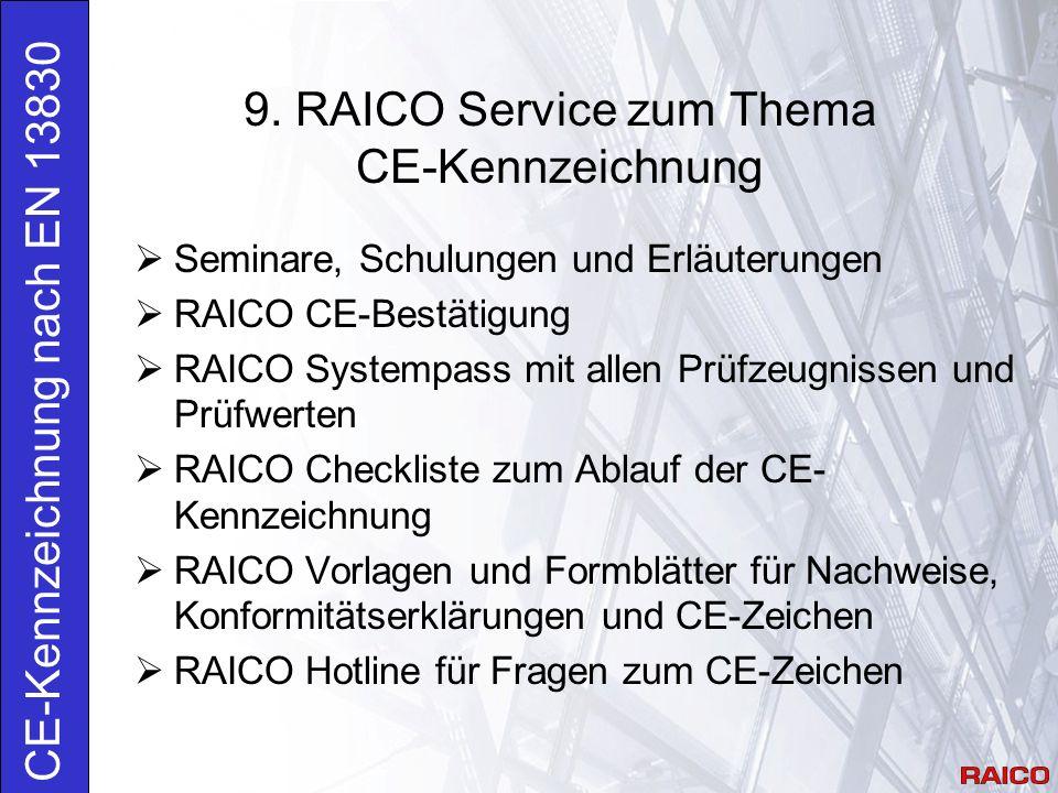 9. RAICO Service zum Thema CE-Kennzeichnung