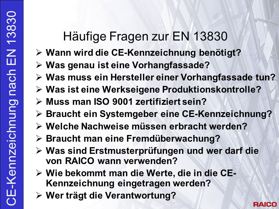 CE-Kennzeichnung nach EN 13830