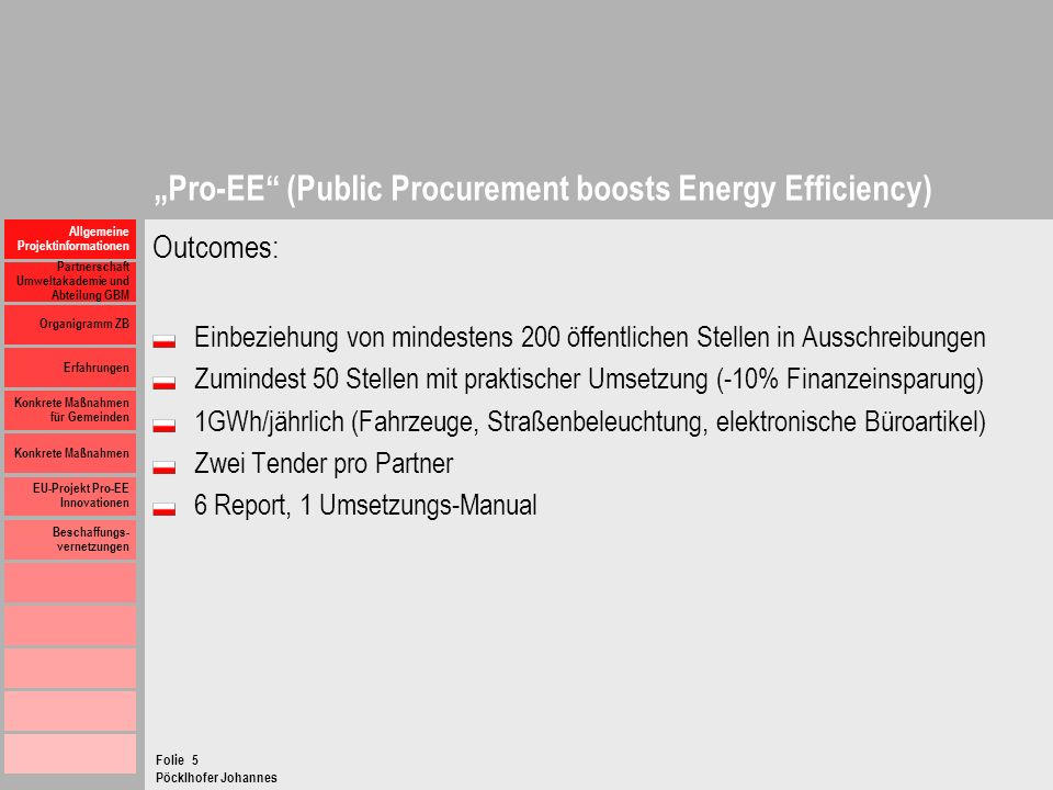 """Pro-EE (Public Procurement boosts Energy Efficiency)"
