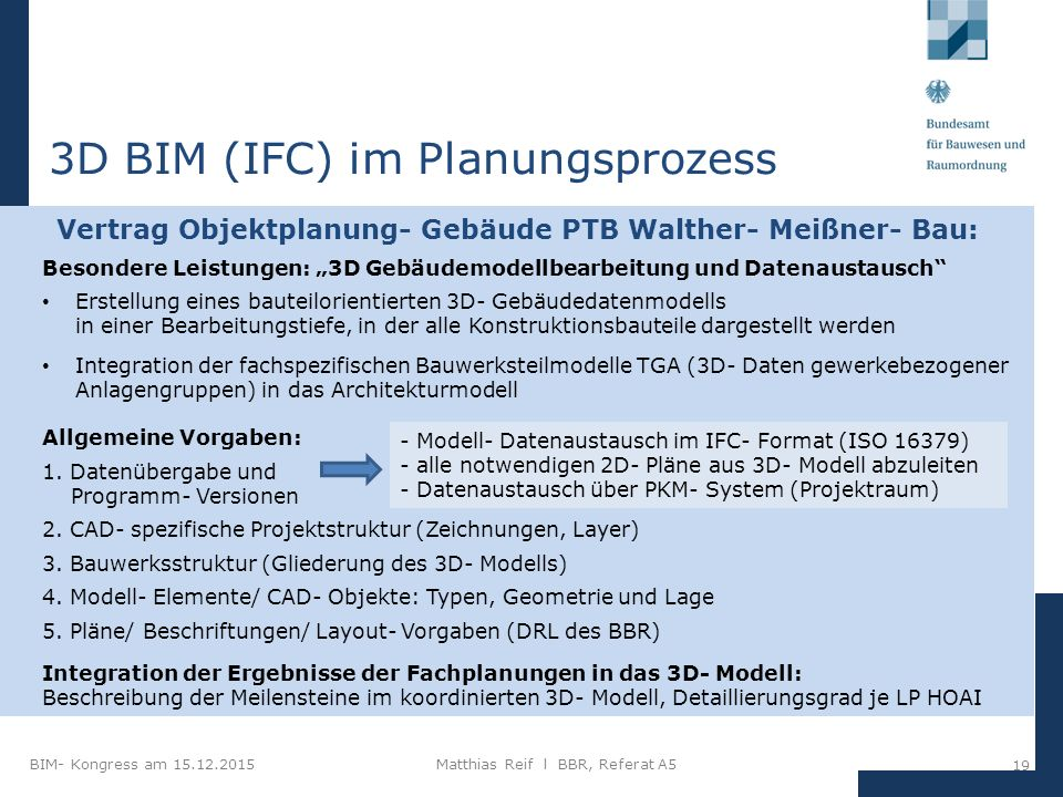 3D BIM (IFC) im Planungsprozess