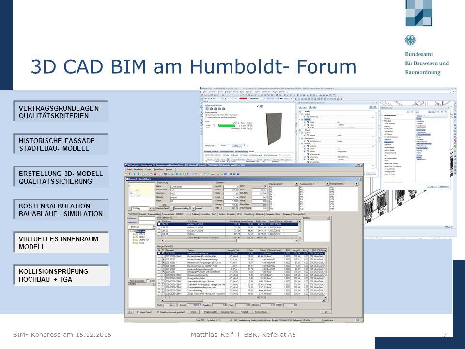 3D CAD BIM am Humboldt- Forum