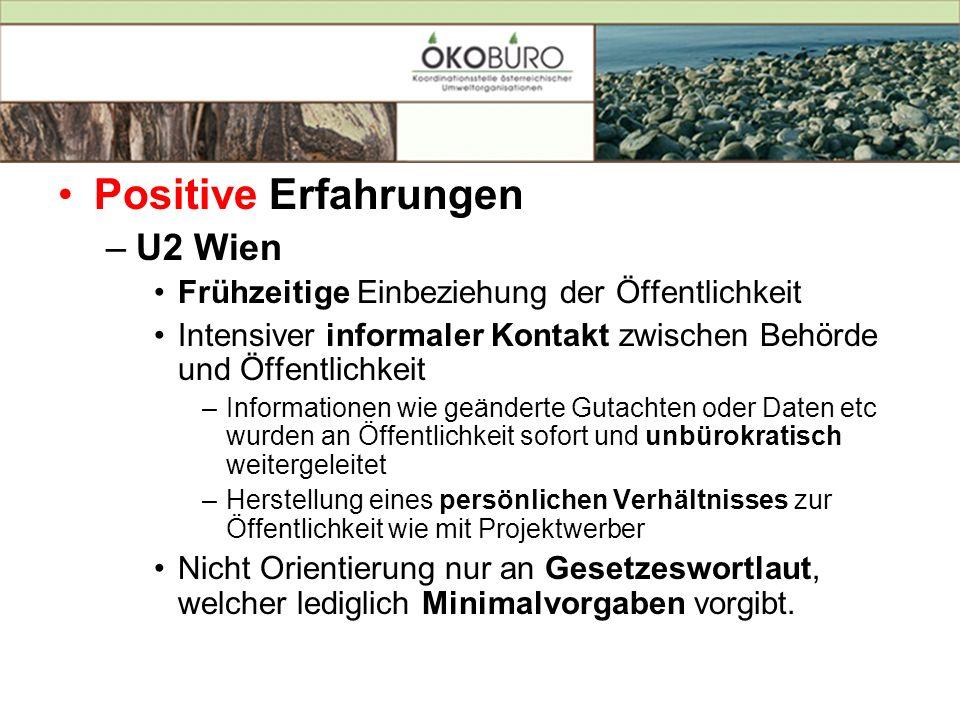 Positive Erfahrungen U2 Wien