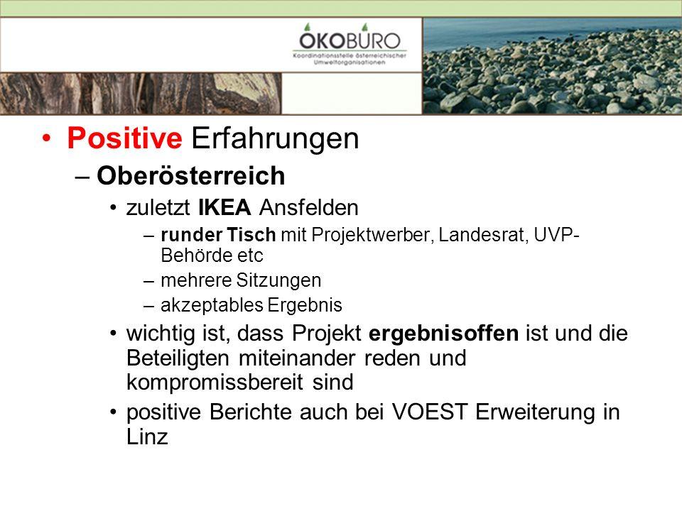 Positive Erfahrungen Oberösterreich zuletzt IKEA Ansfelden