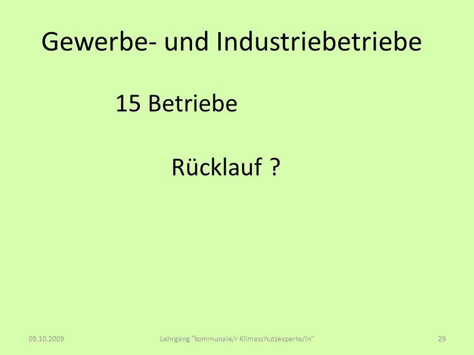Gewerbe- und Industriebetriebe