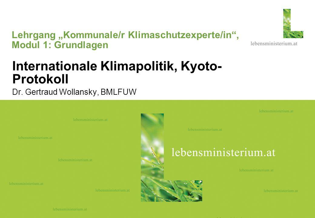 """Lehrgang """"Kommunale/r Klimaschutzexperte/in , Modul 1: Grundlagen"""