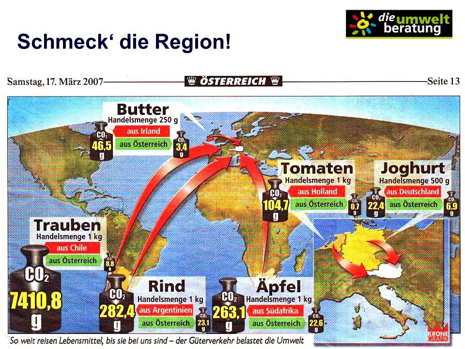 Schmeck' die Region! Hagelversicherung-Studie: Durch Einkauf 30% mehr regionale Lebensmittel: BIP + bis 2,67 Mrd.€/a.