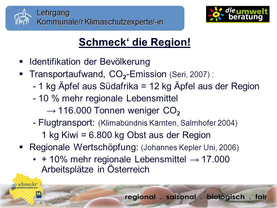 Schmeck' die Region! Identifikation der Bevölkerung