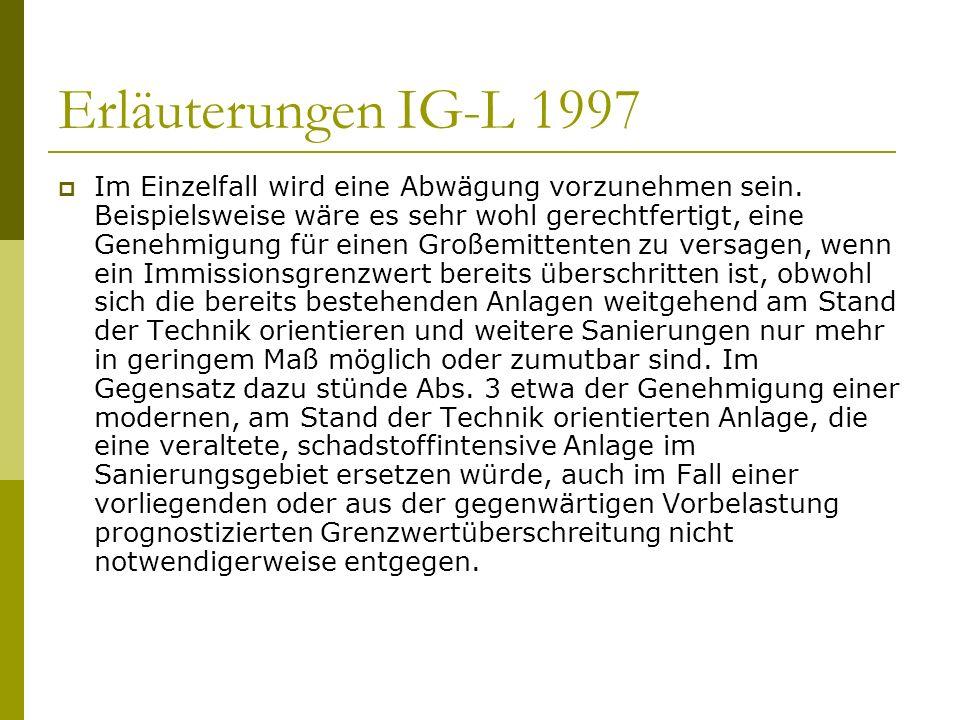 Erläuterungen IG-L 1997