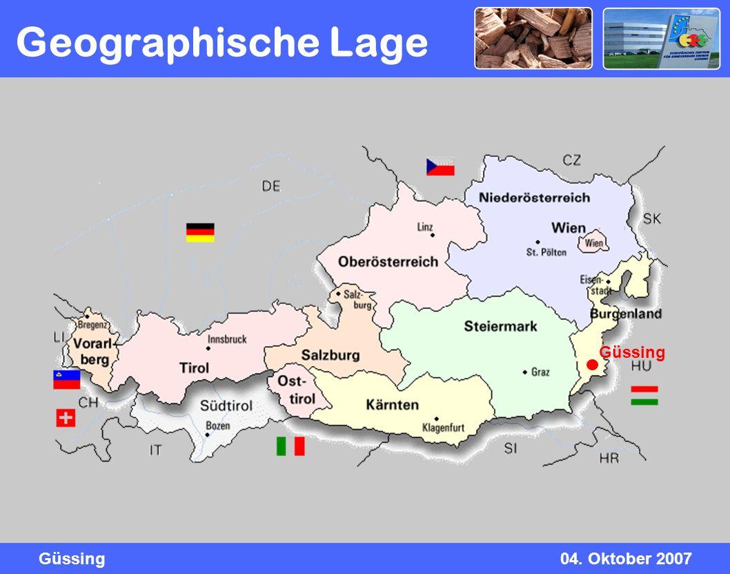 Geographische Lage Güssing