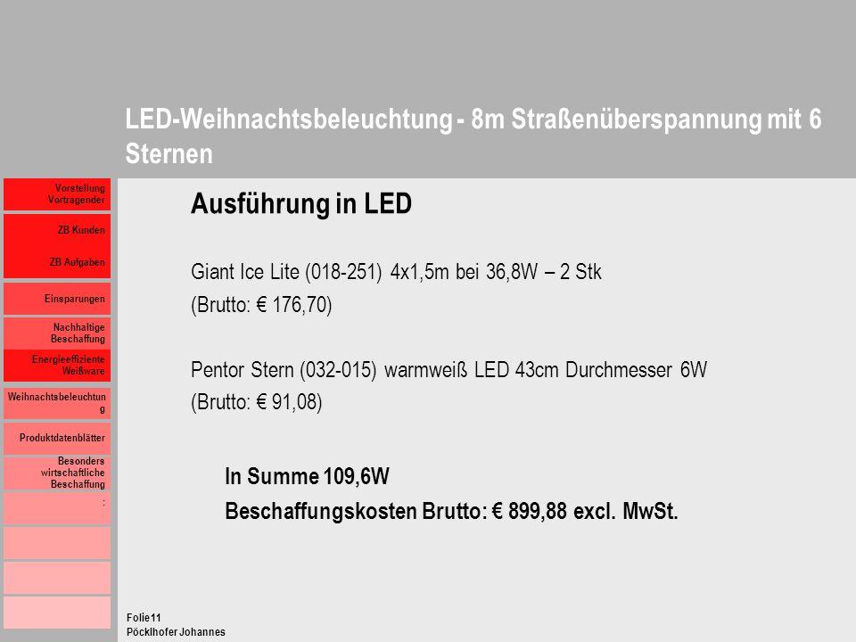 LED-Weihnachtsbeleuchtung - 8m Straßenüberspannung mit 6 Sternen