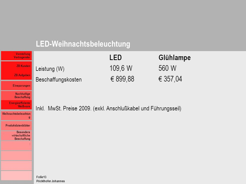 LED-Weihnachtsbeleuchtung