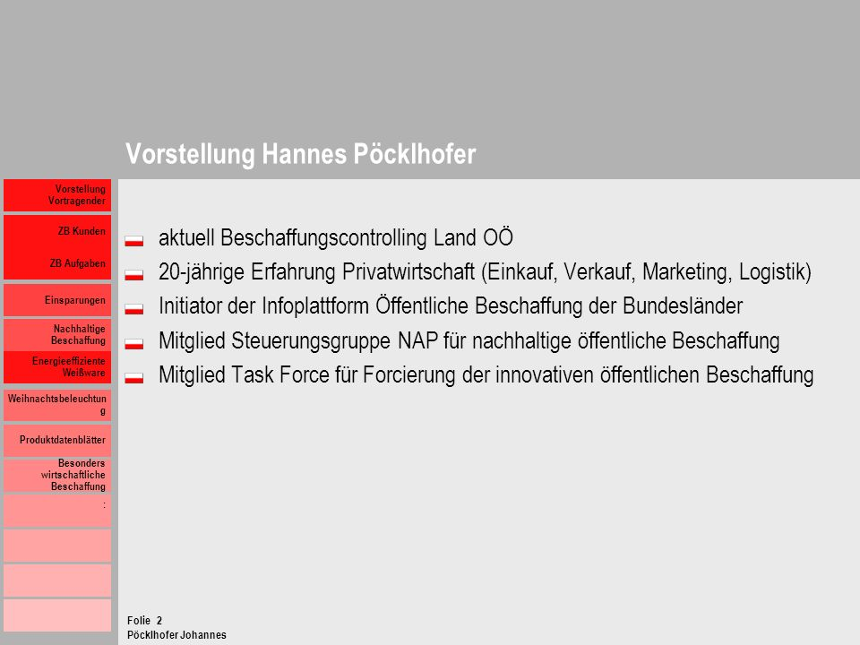 Vorstellung Hannes Pöcklhofer