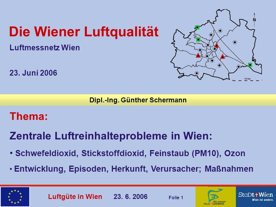 Die Wiener Luftqualität