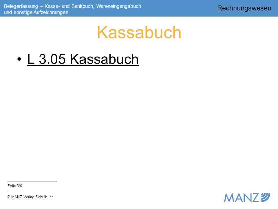 Kassabuch L 3.05 Kassabuch