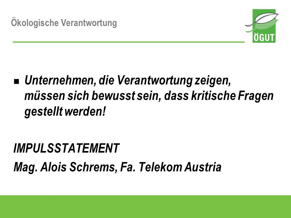 Mag. Alois Schrems, Fa. Telekom Austria