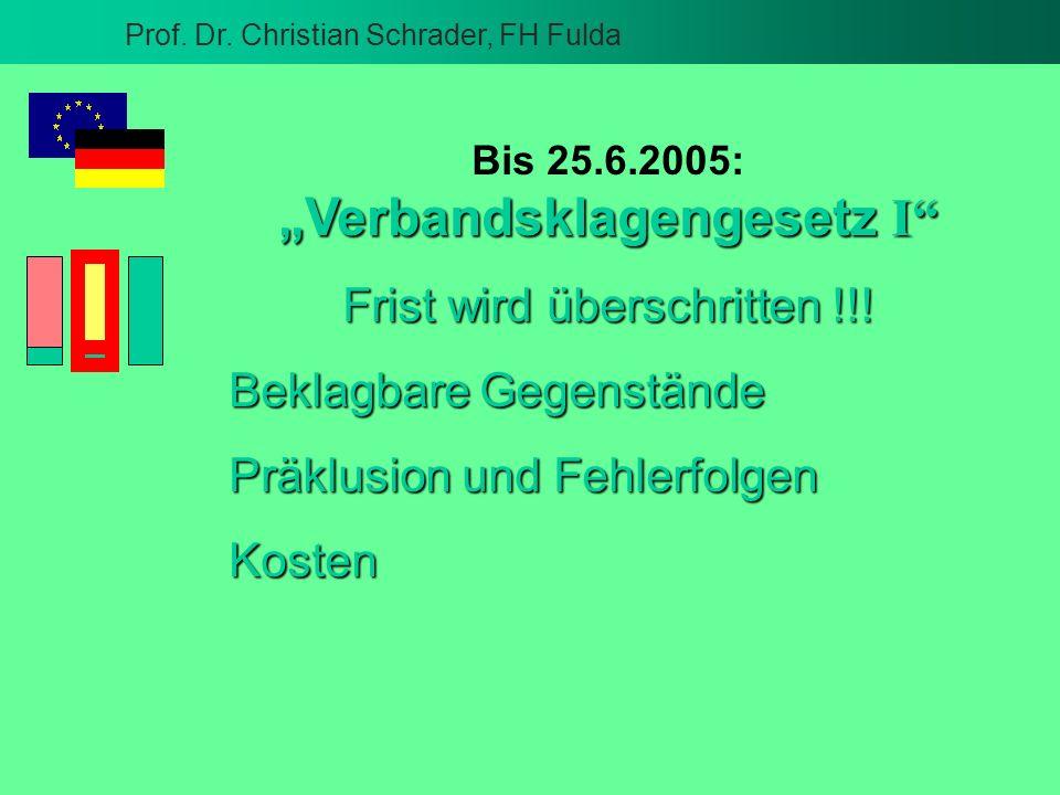 """""""Verbandsklagengesetz I"""