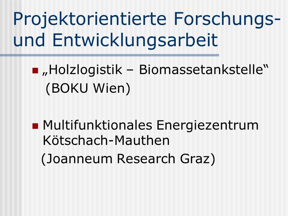 Projektorientierte Forschungs- und Entwicklungsarbeit