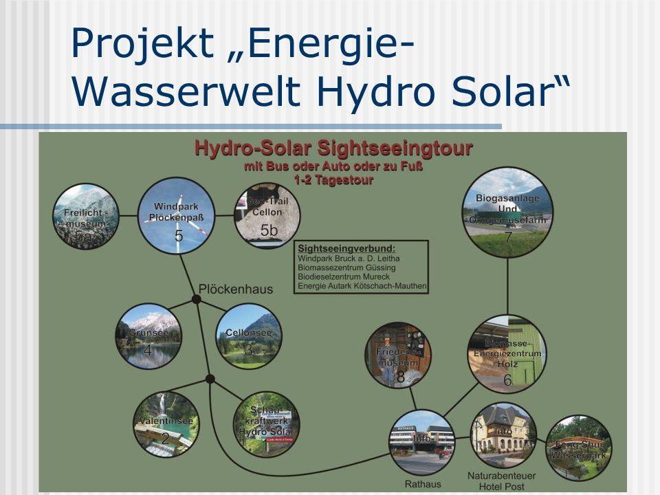"""Projekt """"Energie-Wasserwelt Hydro Solar"""