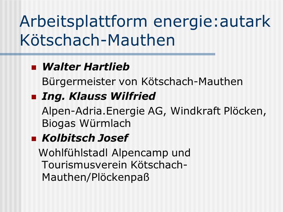 Arbeitsplattform energie:autark Kötschach-Mauthen