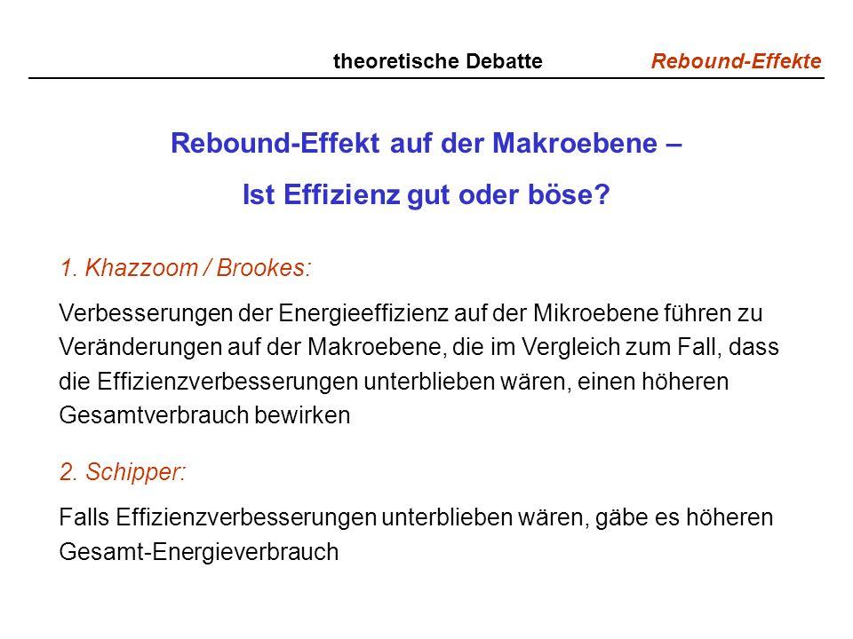 Rebound-Effekt auf der Makroebene –